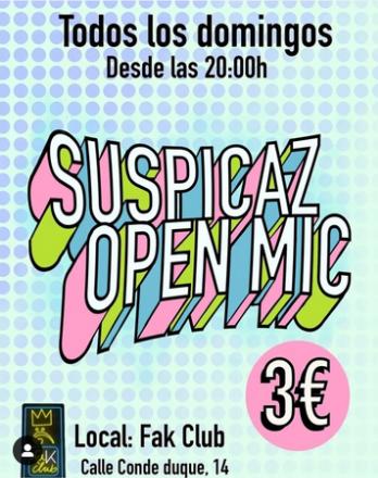suspicaz open mic